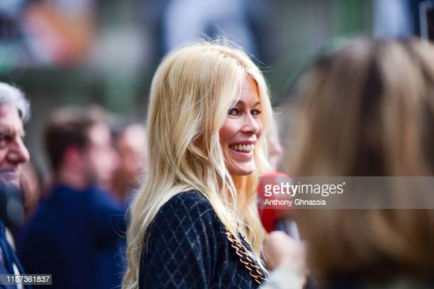 """Claudia Schiffer at """"Karl for Ever"""" Tribute to Karl Lagerfeld at Grand Palais on June 20, 2019 in Paris, France."""