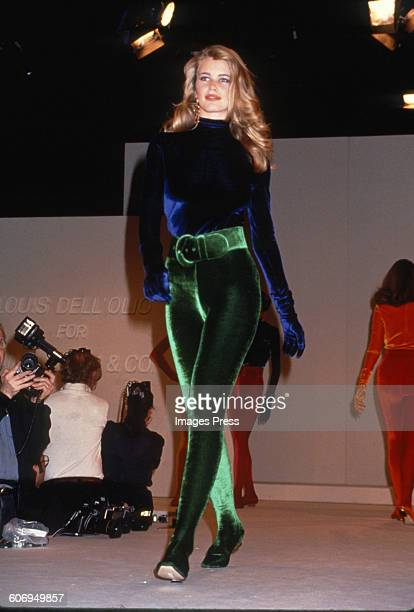Claudia Schiffer at the Anne Klein Co Fall 1991 show circa 1991 in New York City