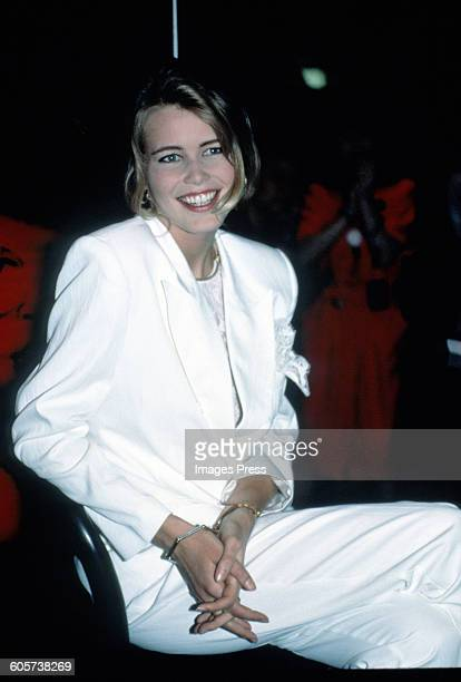 Claudia Schiffer at the Guess Parfum Launch circa 1990 in New York City
