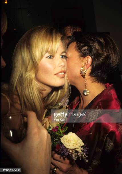Claudia Schiffer attend a fashion Show during Paris Fashion Week in the 1990s in Paris, France.