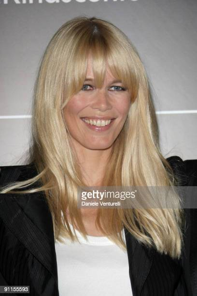 Claudia Schiffer attend the DG Perfumes Collection Launch at La Rinascente Piazza Duomo during Milan Womenswear Fashion Week Spring/Summer 2010 on...
