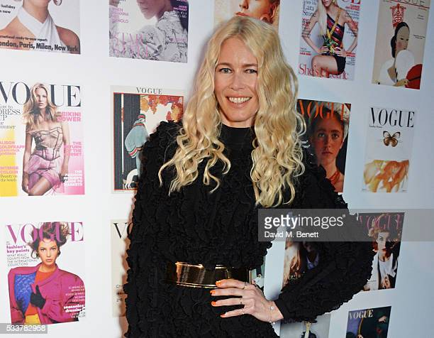 Claudia Schiffer attends British Vogue's Centenary gala dinner at Kensington Gardens on May 23 2016 in London England