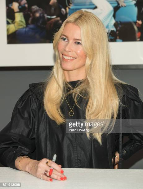 Claudia Schiffer attends her gallery opening and book signing for her book 'Claudia Schiffer' at CWC Gallery on November 16 2017 in Berlin Germany