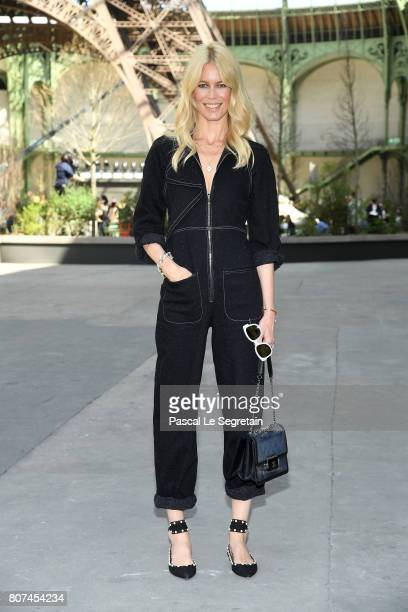 Claudia Schiffer attends the Chanel Haute Couture Fall/Winter 20172018 show as part of Haute Couture Paris Fashion Week on July 4 2017 in Paris France