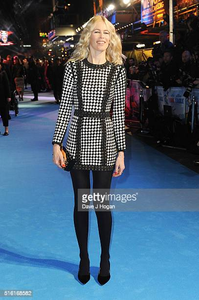 Claudia Schiffer attends the European premiere of 'Eddie The Eagle' at Odeon Leicester Square on March 17 2016 in London England