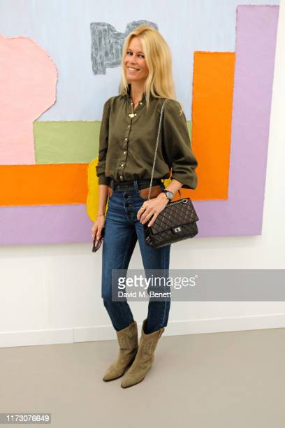 Claudia Schiffer attends the Frieze Art Fair VIP Preview in Regent's Park on October 2, 2019 in London, England.