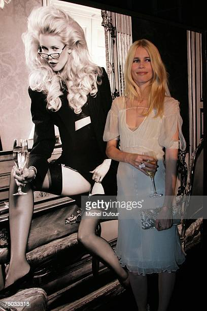 Claudia Schiffer attends the Karl Lagerfeld party hosted by Dom Perignon at Lagerfeld's home on July 4, 2007 in Paris, France.