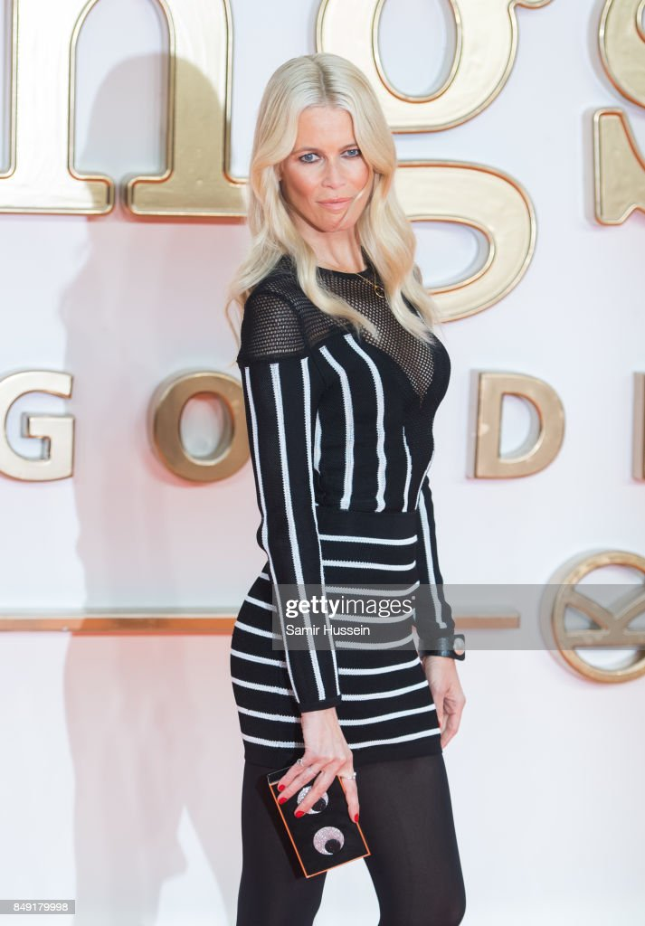 Claudia Schiffer attends the 'Kingsman: The Golden Circle' World Premiere held at Odeon Leicester Square on September 18, 2017 in London, England.