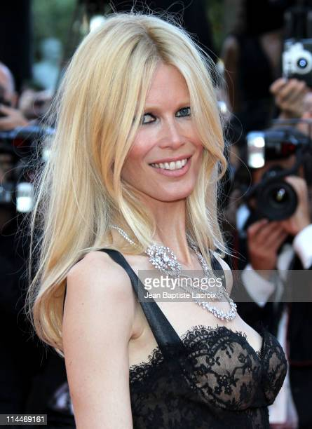 Claudia Schiffer attends the 'This Must Be The Place' Premiere during the 64th Cannes Film Festival at Palais des Festivals on May 20 2011 in Cannes...