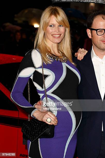 Claudia Schiffer attends the UK Film Premiere of Kick-Ass at the Empire Leicester Square on March 22, 2010 in London, England.