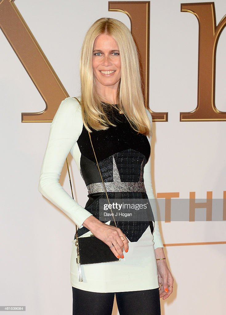 Claudia Schiffer attends the World Premiere of 'Kingsman: The Secret Service' at the Odeon Leicester Square on January 14, 2015 in London, England.