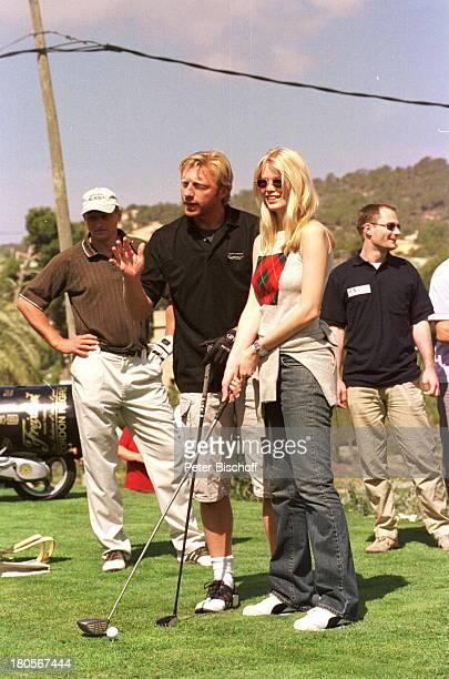 Claudia Schiffer Boris Becker Namefolgt ProminentenGolf Campde Mar/Mallorca/Spanien Golfplatz 'Golfde Andratx' golfen Golf spielen