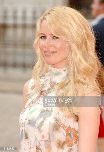 Claudia Schiffer during 2006 Royal Academy Summer Exhibition Outside Arrivals at Royal Academy Of Arts in London Great Britain