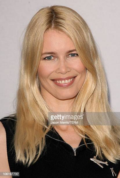 Claudia Schiffer during 2007/2008 Chanel Cruise Show Presented by Karl Lagerfeld at Hangar 8 in Santa Monica California United States