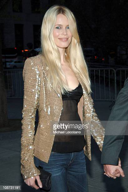 Claudia Schiffer during 4th Annual Tribeca Film Festival Vanity Fair Party at New York Supreme Court in New York City New York United States