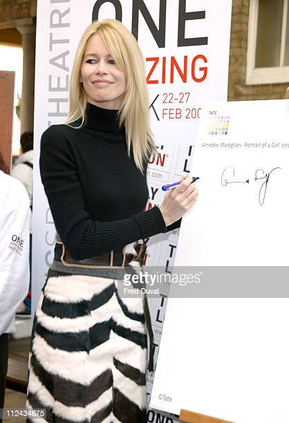 Claudia Schiffer during Claudia Schiffer Launches Totally London Paint By Numbers One Amazing Week at Govent Garden Piazza in London Great Britain