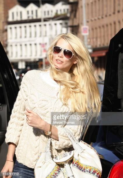 Claudia Schiffer during Claudia Schiffer Sighting October 15 2006 at West Village in New York City New York United States
