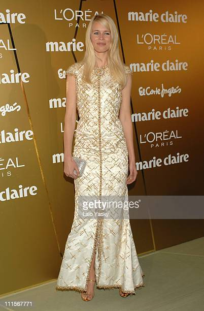 Claudia Schiffer during Marie Claire Prix de la Mode 2006 at French Ambassador`s Residence in Madrid Spain