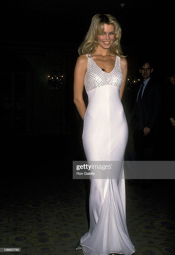 Claudia Schiffer during National Breast Cancer Coalition Dinner Honors Ron Perelman at Pierre Hotel in New York City, New York, United States.