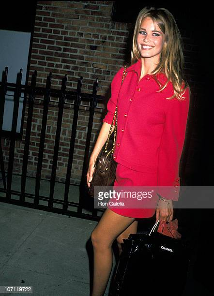 Claudia Schiffer during 'Off the Street' Citizens' Commitee for Children of New York Presented by Chanel September 12 1991 at Bergdorf Goodman in New...