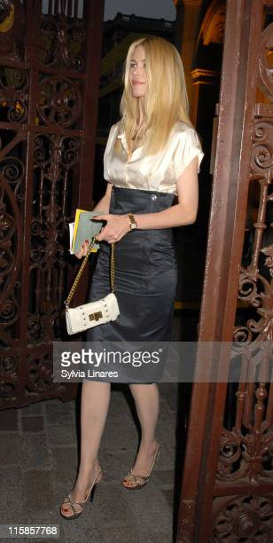 Claudia Schiffer during Royal Academy Summer Exhibition 2007 - VIP Private View - Departures at Royal Academy in London, Great Britain.