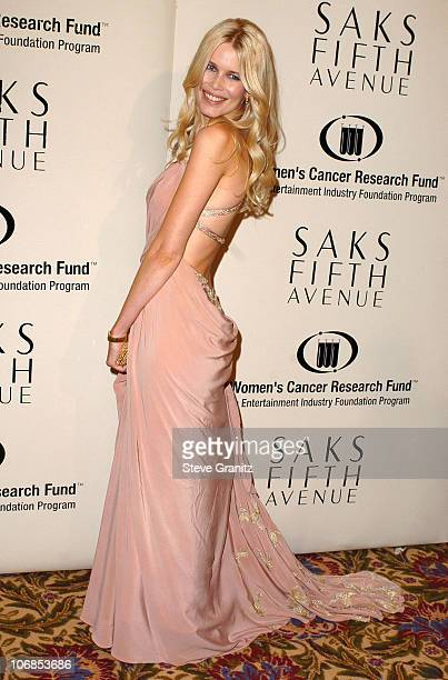 Claudia Schiffer during Saks Fifth Avenue's Unforgettable Evening Benefiting Women's Cancer Research Fund - Arrivals at The Beverly Wilshire in...