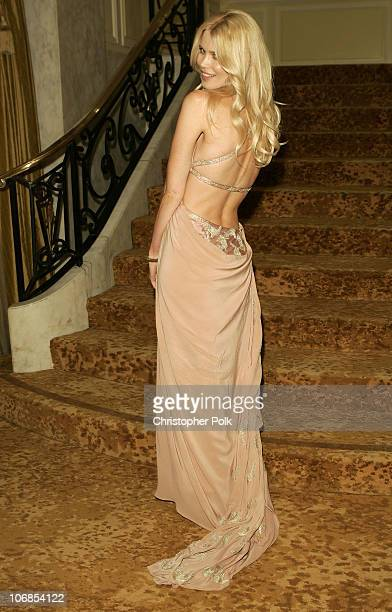 Claudia Schiffer during Saks Fifth Avenue's Unforgettable Evening Benefiting Women's Cancer Research Fund Inside at The Regent Beverly Wilshire Hotel...