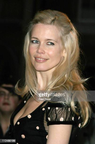 Claudia Schiffer during Sony Ericsson Empire Film Awards Arrivals at Guildhall Arts Centre in London Great Britain