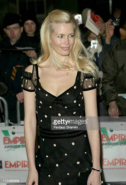 Claudia Schiffer during Sony Ericsson Empire Film Awards Outside Arrivals at Guildhall in London Great Britain