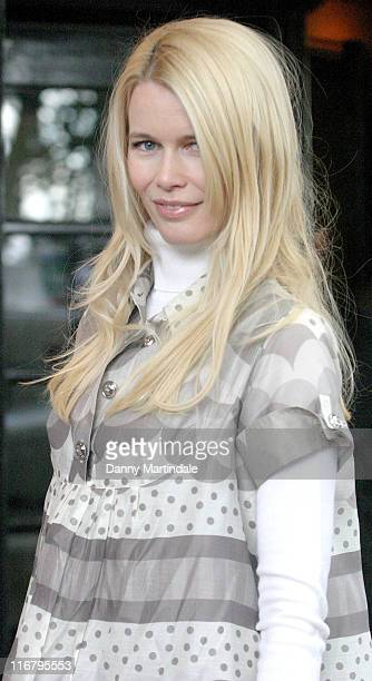 Claudia Schiffer during South Bank Show Awards 2007 at The Savoy in London Great Britain