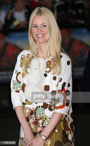 Claudia Schiffer during 'SpiderMan 3' London Premiere Red Carpet at Odeon Leicester Square in London United Kingdom