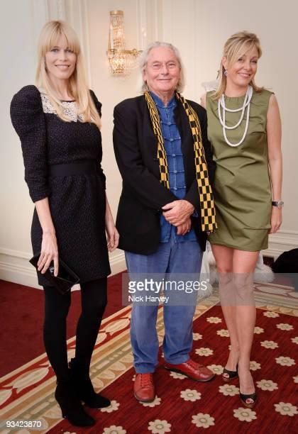 Claudia Schiffer Ingo Maurer and Nadja Swarovski attend an event to switch on Swarovski's five metre Crystal Snowflake designed by Ingo Maurer at...