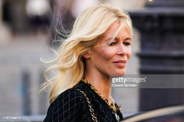 """Claudia Schiffer is seen, outside """"Karl for Ever"""" Tribute to Karl Lagerfeld at Grand Palais, during Paris Fashion Week - Menswear Spring/Summer 2020,..."""