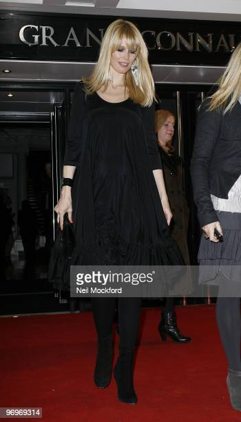 Claudia Schiffer Leaving The ELLE Style Awards 2010, at the Grand Connaught Rooms on February 22, 2010 in London, England.
