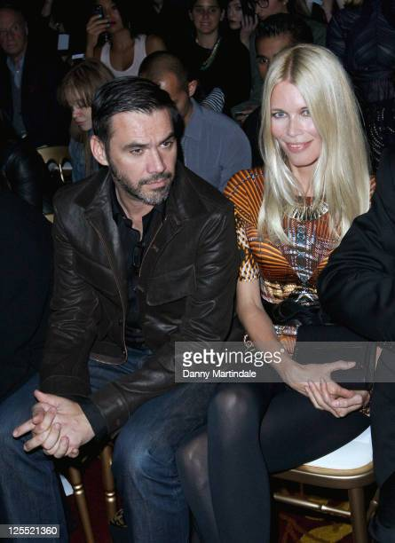 Claudia Schiffer seen on the front row at the Fashion Fringe fashion show at London Fashion Week Spring/Summer 2012 on September 17 2011 in London...