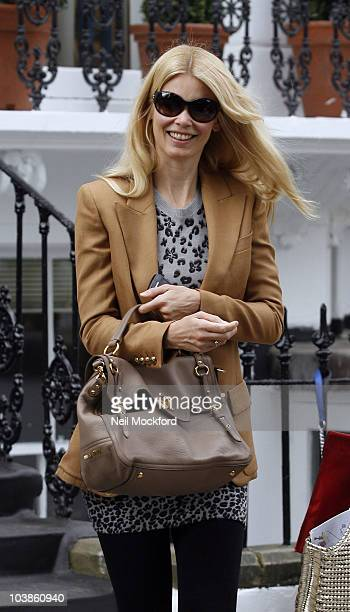 Claudia Schiffer sighted after dropping her child off at school on the first day of the term on September 6 2010 in London England