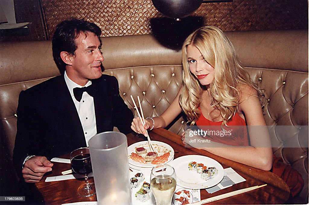 Claudia Schiffer & Tim Jeffries a during 2000 Golden Globe SKG Party in Los Angeles, California, United States.