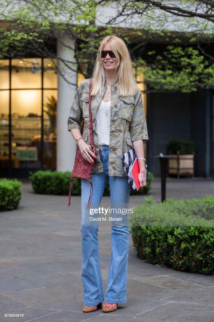 Claudia Schiffer Street Style