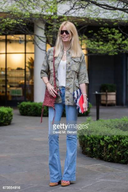 Claudia Schiffer wears Fay on April 25 2017 in London England
