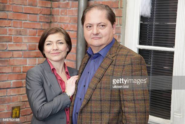 Claudia Schmutzle und Jonas Laux am Set der SOKO Wismar in Berlin Adlershof
