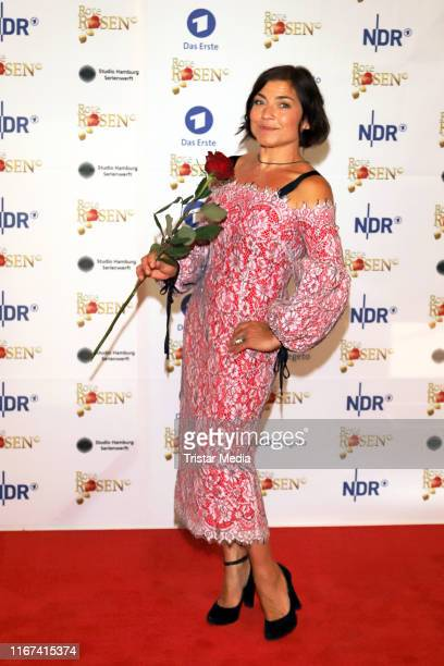 Claudia Schmutzler attends the TV series 'Rote Rosen' celebrates 3000 episodes event on August 10 2019 in Luneburg Germany