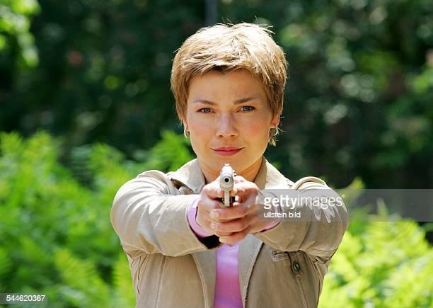 Claudia Schmutzler Schauspielerin D in der Rolle der Kriminaloberkommissarin Katrin Börensen in der TVSerie Soko Wismar