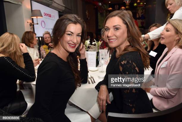 Claudia Schwarz and Simone Ballack attend the DKMS LIFECharity Ladies Christmas Lunch at Kaefer Schaenke on December 12 2017 in Munich Germany