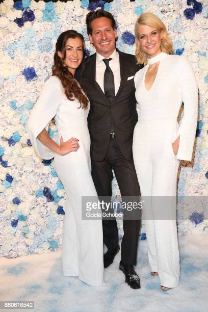 Claudia Schwarz Instyle productions and Axel Ludwig Director Hotel Vier Jahreszeiten and Natascha Gruen during the DressHeaven 2017 Christmas party...