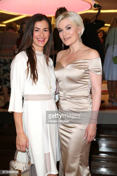 Claudia Schwarz InStyle Productions and Kriemhild Siegel wearing a dress by Christina Duxa and jewelry by Thomas Jirgens Juwelenschmiede during the...