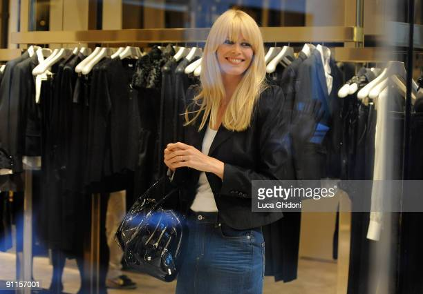 Claudia Shiffer is seen shopping on September 25 2009 in Milan Italy