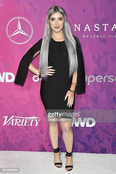 Claudia Soare attends the Variety WWD Host Second Annual StyleMakers Awards Arrivals at Quixote Studios West Hollywood on November 17 2016 in West...