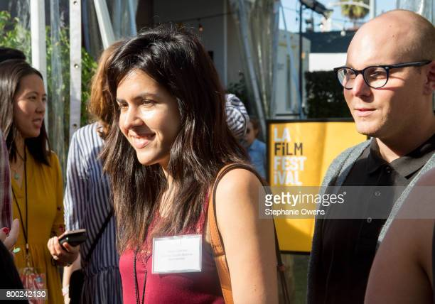 Claudia Sparrow Peter Maestrey Fast Track Fellows attend the Fast Track Happy Hour during the 2017 Los Angeles Film Festival on June 21 2017 in...