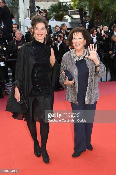 """Claudia Squitieri and Claudia Cardinale attend the """"Sink Or Swim """" Photocall during the 71st annual Cannes Film Festival at Palais des Festivals on..."""