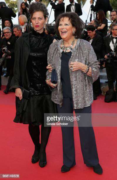 Claudia Squitieri and mother Claudia Cardinale attend the screening of Sink Or Swim during the 71st annual Cannes Film Festival at Palais des...